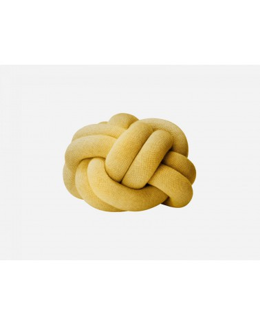 Knot cushion yellow