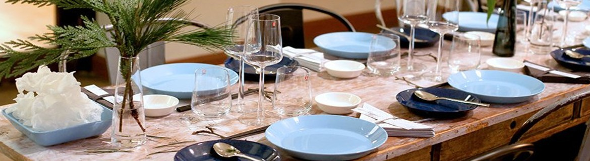 Table setting in perfect nordic style, with elegant but simple objects